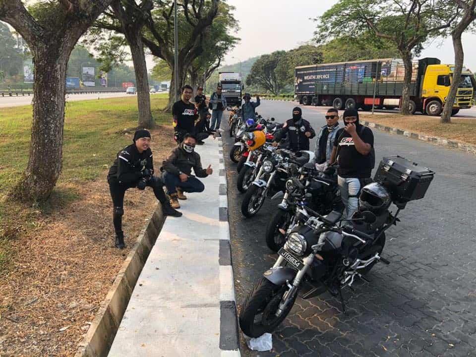 group bikers ride