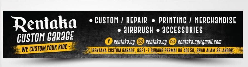 rentaka custom garage signboard